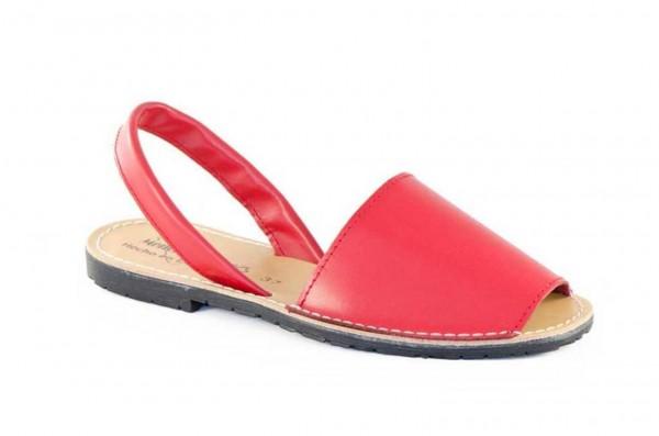 Avarca Menorquina Sandale | Piel Rojo