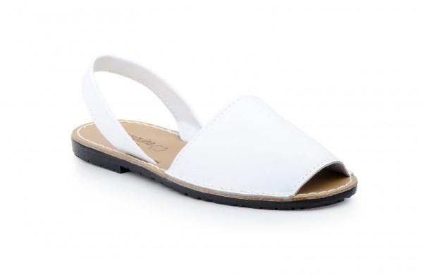 Avarca Menorquina Sandale | Piel Blanco